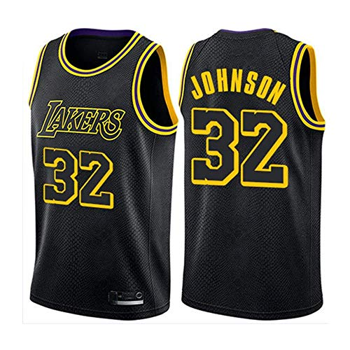 Uomo Jersey Lakers 32# Magic Johnson Vintage all-Star Jersey, Respirabile Freddo di Tessuto, Uniforme di Basket Unisex Fan,M:175cm/65~75kg