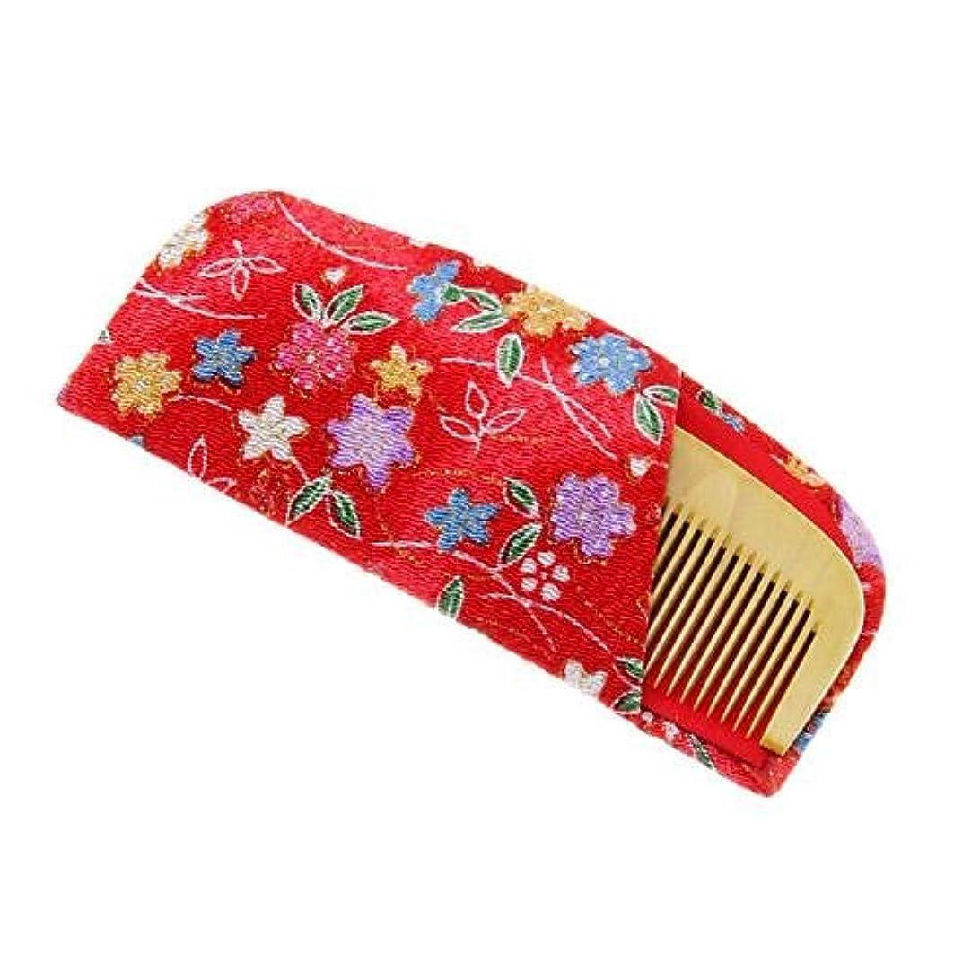 アリス誤聞きます国産 薩摩つげ使用 つげ櫛3.5寸 ケース付き(椿油染め/さつま本つげぐし)
