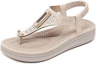 385720d345b079 WDDqzf Tongs Nouvelles Sandales pour Femmes_2019 Sandales pour Femmes  Européennes Et Américaines avec Bouts Compensés Pantoufles