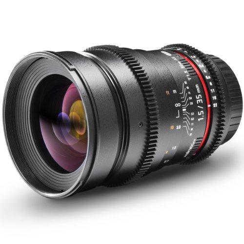 Walimex Pro - Objetivo Gran Angular para Montura Nikon (Rosca de 77 mm, 35 mm f/1,5)