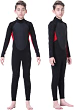 Homruilink Kids Wetsuit, 3mm Neoprene Wetsuit Unisex Full Suit Long Sleeve Swimsuit UV Protection with Back Zip for Diving...