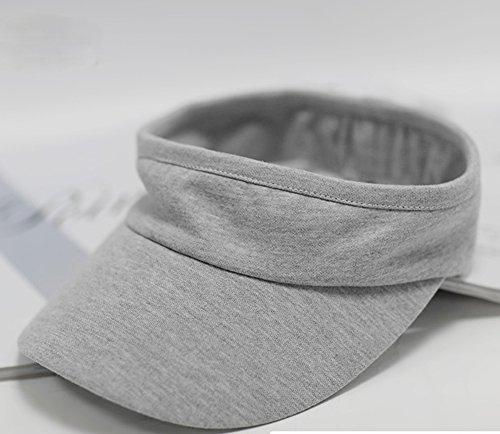 Sonnenhut/weiblicher Sommer Sonnenhut/Freizeit großer Sonnenhut/Baumwolle Sport leerer Hut (Farbe: Grau)