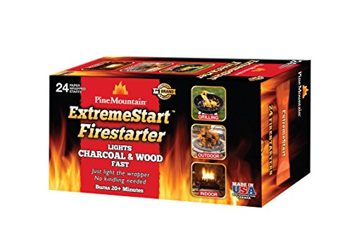 Pine Mountain ExtremeStart Wrapped Fire Starters, 24 Starts Firestarter Wood...