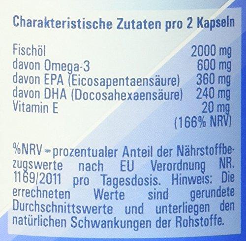 Vitasyg Omega 3 Fischöl Kapseln 1000 mg 18 prozent EPA, 12 prozent DHA – 100 Stück, 1er Pack (1 x 137 g) - 5