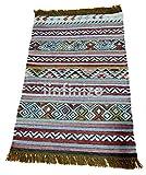 iinfinize – Indischer Kelim-Teppich, Wolle, Jute, Kelim-Teppich, handgewebt, Vintage-Stil, Kelim-Teppich, dekorativer Kelim-Läufer, wendbarer Überwurf, traditionelle Bodenmatte - 5