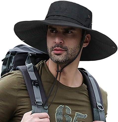 Super Wide Brim Fishing Sun Hat Safari UPF50 Bucket Boonie Cap for Gardening Hiking Camping product image