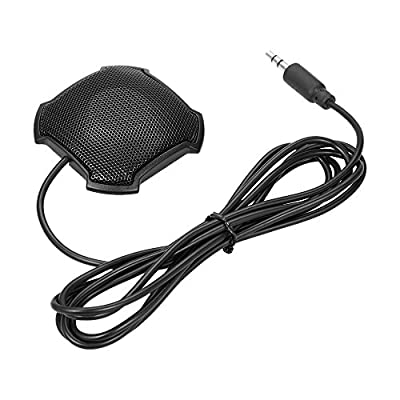 Docooler Portable Stereo Omnidirectional Microphone Condenser Mic 3.5mm Connector for Meeting Business Conference Computer Laptop