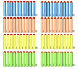Liberty Imports 200 Foam Darts Refill Bullet Pack for Nerf N-Strike Elite Series Blasters (100 Suction Darts + 100 Tip Darts)