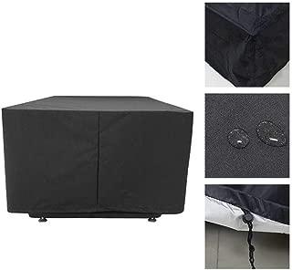 28 Tailles Color : Noir, Size : 60X60X60cm WKZWY Cube Meubles De Jardin Couvertures Dext/érieur Housse /Étanche Rotin Couverture Rectangulaire B/âche