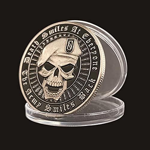 United States Beret Skull Collection Metal Coin Amerikanskt stort amerikanskt mynt