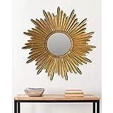 Safavieh Home Collection Josephine 33.5 x 33.5-inch Antique Gold Round Decorative Sunburst Mirror