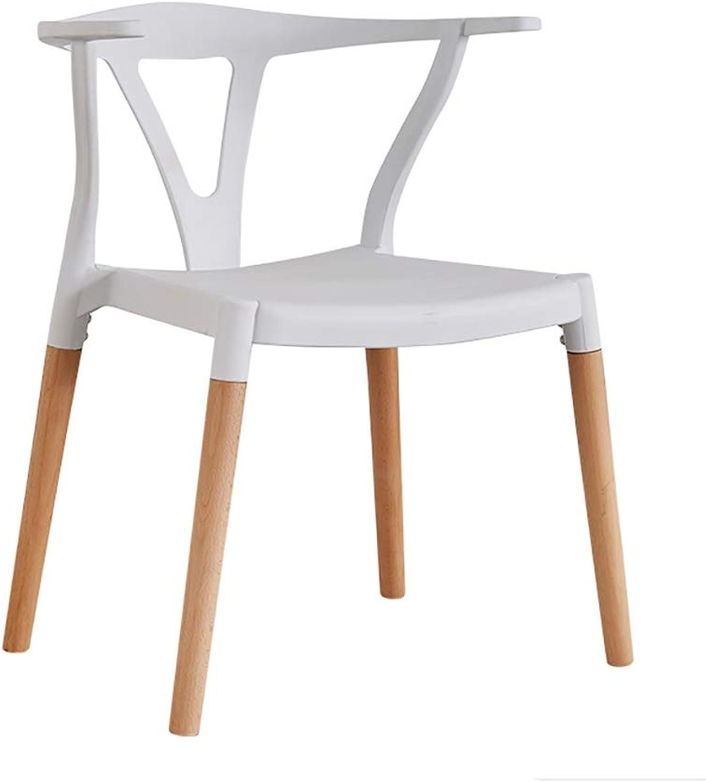 Restaurant Dining Chair Horn Chair Creative Computer Chair Modern Minimalist Study Stool Backrest Adult Chair (color   White)