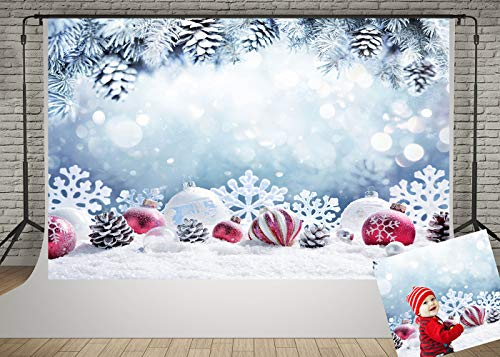 Kate 7x5ft Christmas Fir Branches Backdrop for Photographer Winter Frozen Snow Snowflake Decoration Photo Background Children Baby Shooting Photography Props