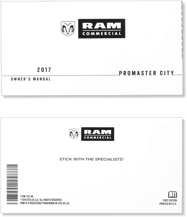 2017 shipfree Industry No. 1 Ram Promaster Manual Owner's City