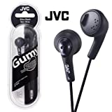 JVC Gumy Bass Boost Stereo Headphones Olive Black