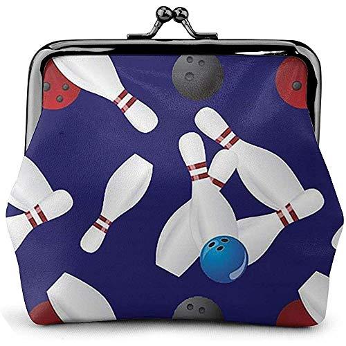 Kiss-Lock-Beutel Bowling Collage Women 'S Wallet Buckle Geldbörsen Pouch Kiss-Lock Reisemake-Up Geldbörsen