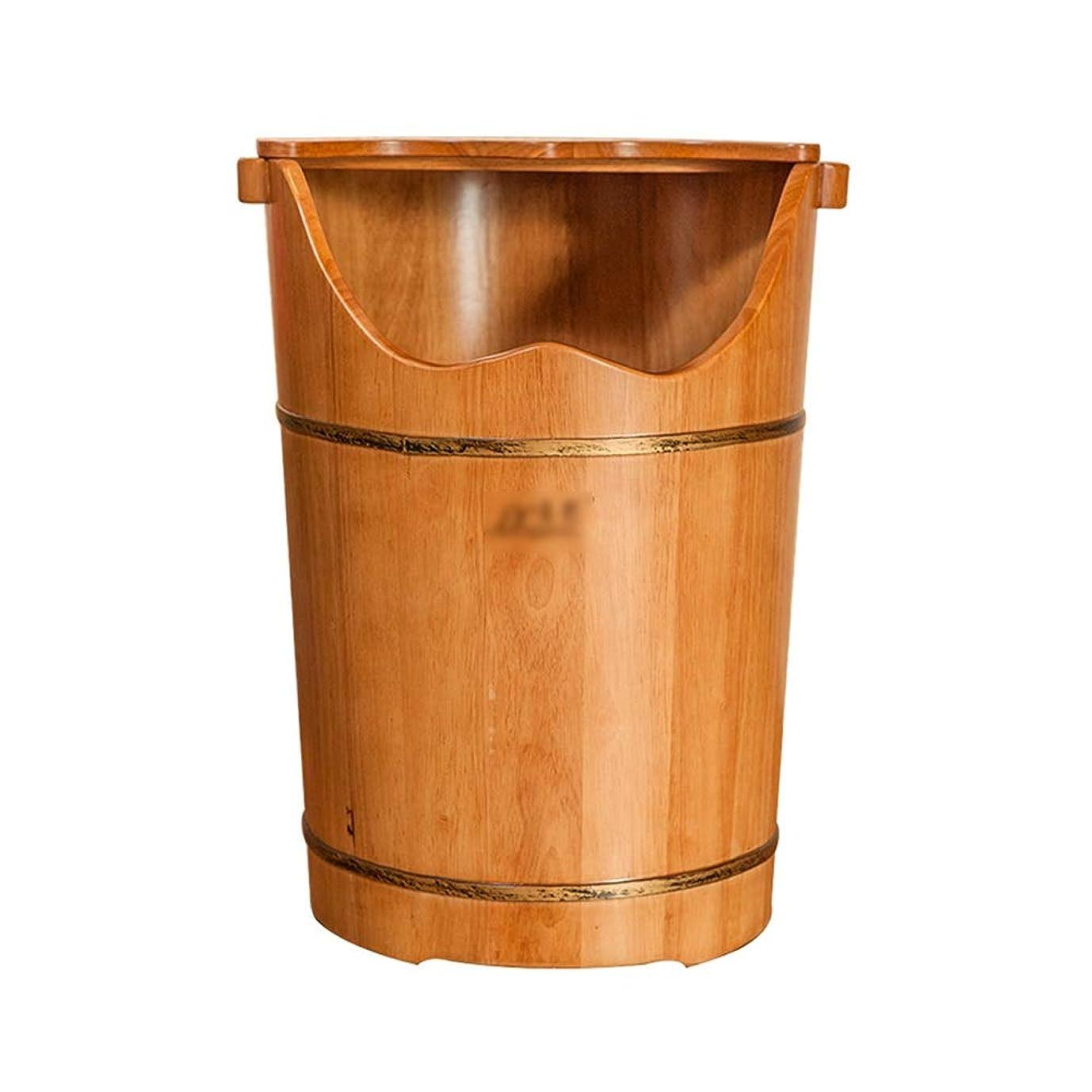 肺炎洋服預言者LJHA 木製フットバス用バケツ - フタフットマッサージ洗面器で60cm / 23.6インチの高さ 足浴槽
