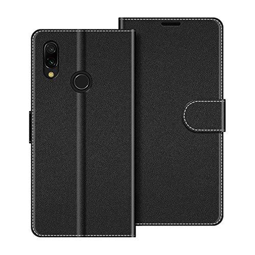 COODIO Funda Xiaomi Redmi 7 con Tapa, Funda Movil Xiaomi Redmi 7, Funda Libro Xiaomi Redmi 7 Carcasa Magnético Funda para Xiaomi Redmi 7, Negro