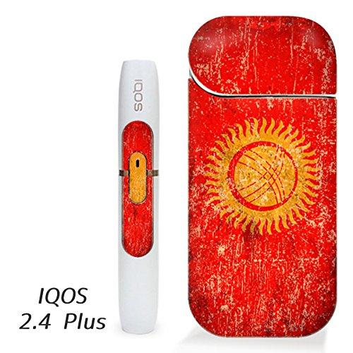 アイコス用 スキンシール ( 2.4Plus 用 ) キルギス 国旗 (アンティーク) シール ステッカー iQOS用,