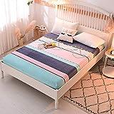 Juego de ropa de cama de microfibra, funda de cama para niños, terciopelo de cristal, grueso, antideslizante, funda de colchón fija, C150 x 200 cm