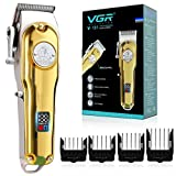 VGR Haarschneidemaschine Profi, Professioneller Haarschneider Set für Männer, USB Kabelgebundenes/Kabelloses Haartrimmer Set mit LED-Anzeige, Modell V-181