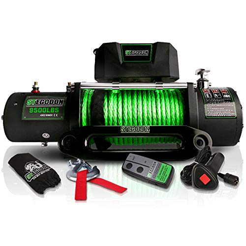 STEGODON New 9500 lb. Load Capacity Electric Winch S2,12V Waterproof IP67...