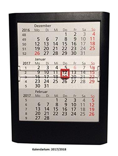 Walz 3-Monats-Tischkalender, für 2020/2021, 12.5x16x1.4cm, schwarz, 5033