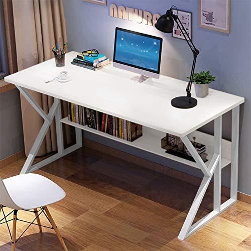 【US Stock】- Arystk Simple Home Desk Student Writing Desktop Desk Multifunction Modern Economic Computer Desk