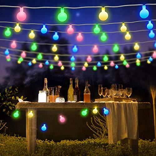 ShinePick Luci Della Stringa Della Palla,7M 50 LED 8 modalità Led Catene Luminose con Telecomando e Timer per Interno/Esterno Giardino Natale Matrimonio Albero di Natale Terrazzo(Colore)
