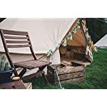 Bell Tent 4 metre with stove hole & zipped in groundsheet by Bell Tent Boutique 3