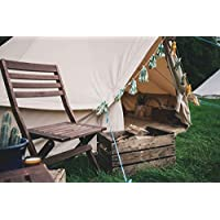 Bell Tent 4 metre with stove hole & zipped in groundsheet by Bell Tent Boutique 17