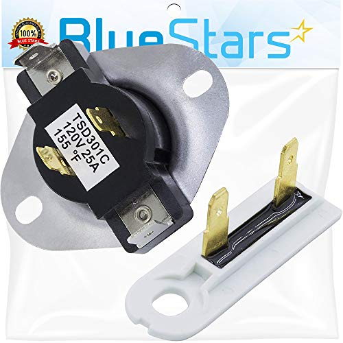 3387134 & 3392519 Dryer Cycling Thermostat & Thermal Fuse Replacement Part by Blue Stars - Exact fit for Whirlpool & Kenmore Dryers