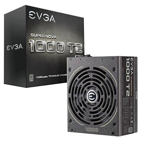 EVGA Supernova 1000 T2, 80+ Titanium 1000W, Fully Modular, ECO Mode, 10 Year Warranty, Includes Free Power On Self Tester, Power Supply 220-T2-1000-X1