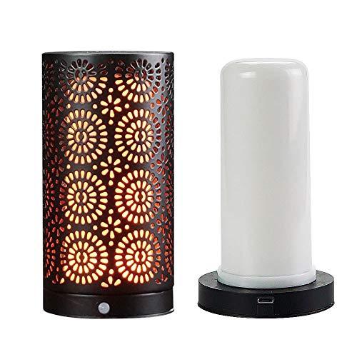 Veilleuse Ampoule À Flamme Aimant À LED, Petite Lampe De Table Rechargeable Partie Ampoule À Flamme Scintillante, Résistant À l'eau, Batterie Rechargeable Intégrée Et Base Magnétique