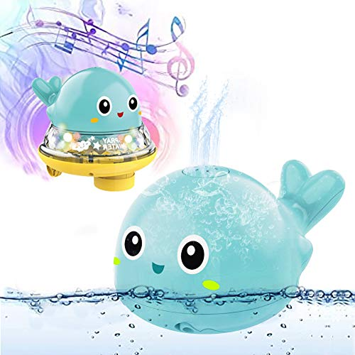 Juguetes de baño 2 en 1 para niños, juguete de baño, juguete de baño eléctrico automático con luz y música, juguete para el baño