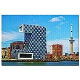 Holanda Euromast Tower Rotterdam Puzzle 1000 Piezas para Adultos Familia Rompecabezas Recuerdo Turismo Regalo