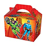 WICKED VALUE Party Treat / Loot Boxes in lots of Fun Designs ***FREE UK DELIVERY*** (10 x Superhero) by WG