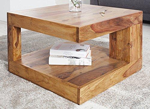 DuNord Design Couchtisch Sofatisch GOA 60cm Palisander Massiv Holz Tisch Sheesham Natur