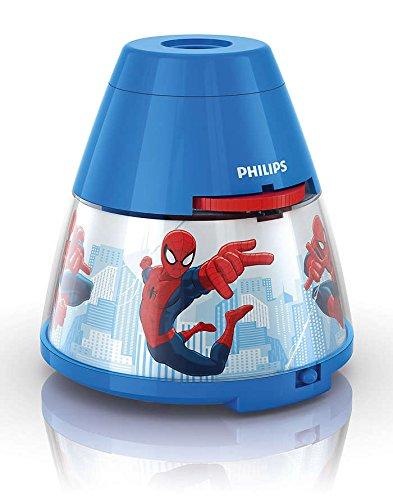 Philips e Disney Lampada da Tavolo Spiderman, Proiettore LED, Blu