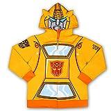 Hasbro Transformers Boy's Bumble Bee Hooded Zipper Jacket, Yellow, Size 5