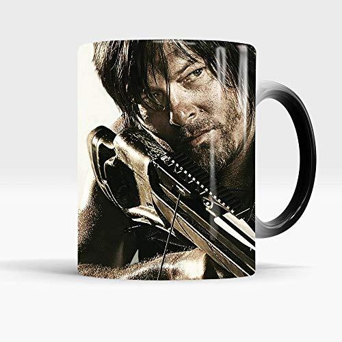 yrxh The Walking Dead Armbrust Verfärbungsbecher Kreative Keramik Thermal Kaffeetasse Wasser Tasse Weihnachtsgeburtstagsgeschenk-301-400 ml