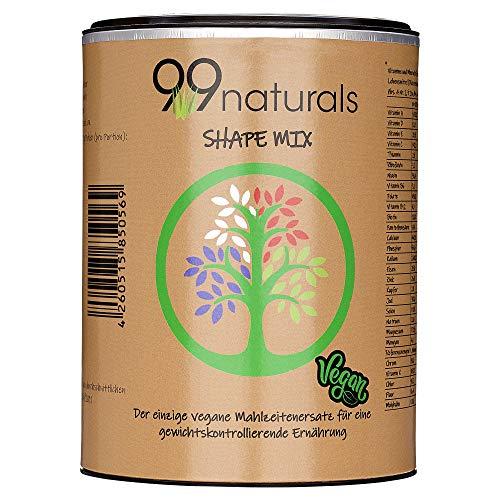 99naturals Mahlzeitenersatz 500g Vegan-Protein Mahlzeitersatz Pulver mit Kokosblütenzucker 20 Portionen Vegan Shake I Diätshake Neutraler Geschmack. laktosefrei frei von Aspartam