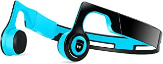 Bone Conduction Headphones, JUHALL Bluetooth V4.2 Earphones Wireless Sports Headset Built-in Mic Sweatproof for iPhone, Android, Other Bluetooth Enabled Devices (Red) (Blue)