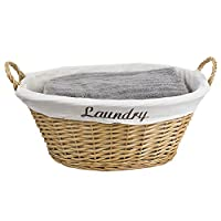 Image: Home Basics Wicker Laundry Basket | Perfect for any house with its simple look and easy-use