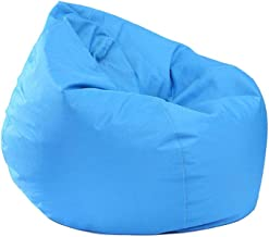 AXYRXWR Multicolor Soft Bean Bag Chair, Lazy Lounger Bean Bag Storage Chair for Adults and Kids Indoor Outdoor for Home Garden Lounge Living Room Sofa Sack (Blue)