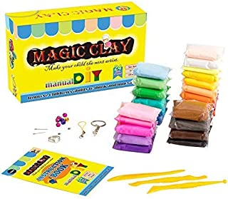TIENCIY Magic 24 Colors Clay Air Dry Clay Colorful DIY Soft Modeling Ultra Light Craft Best Gift for Children