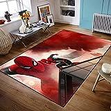 wanyouyinli The Avengers Marvel Team Superhelden Fußmatte Teppich Spiderman Iron Man Captain America Teppichboden Schlafzimmer Fußmatte rutschfeste Matte Geschenk Y-1819C 80X150Cm