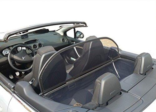 GermanTuningParts Windschott für Peugeot 308 Cabriolet - Klappbar - mit Schnellverschluss – Schwarz | Windabweiser | Windblocker | Wind Deflector
