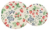 Now Designs, Berry Patch Cotton Bowl Covers, Set of Two, 2 CT, 2 Piece