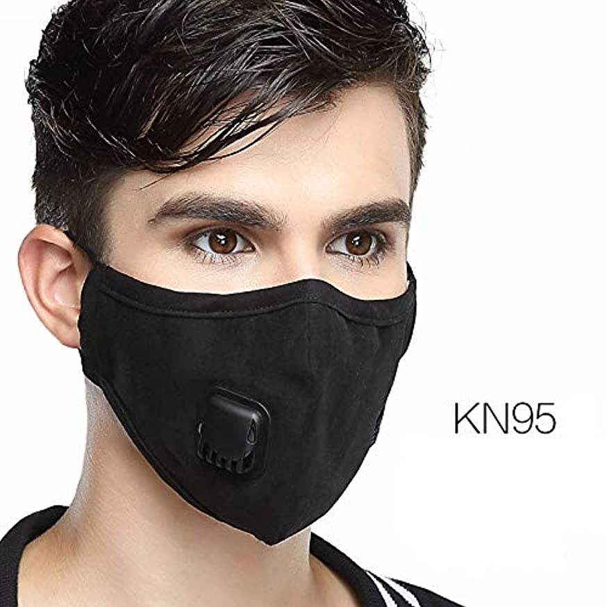 AVIGOR N99 Respirator Mask Anti Pollution Military Grade Washable Cotton Masks With Adjustable Straps (Black-Square)